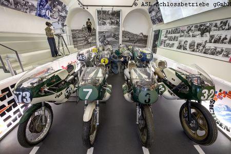MZ-Rennsport im Motorradmuseum Schloss Augustusburg