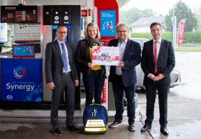 Die Nothilfe Freiberg gewinnt 1.500 Euro Tankguthaben.