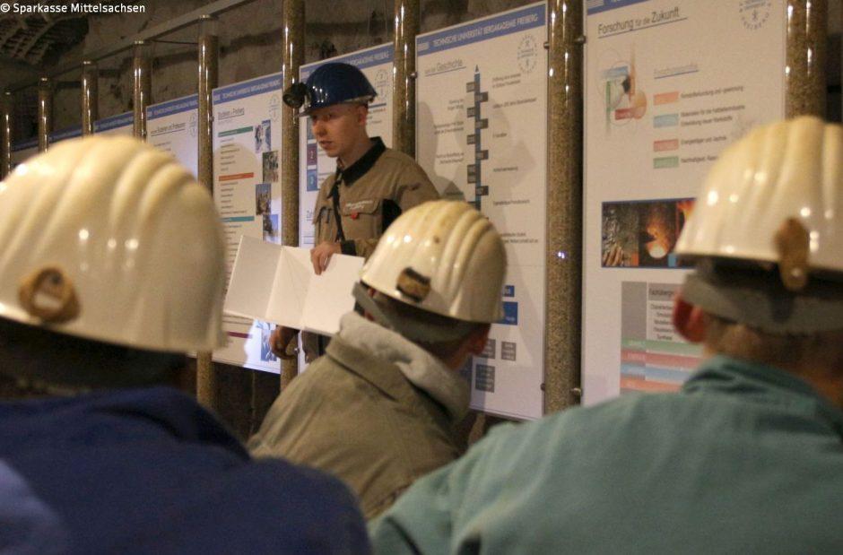 Was machen die Markscheider im Silberbergwerk Freiberg?