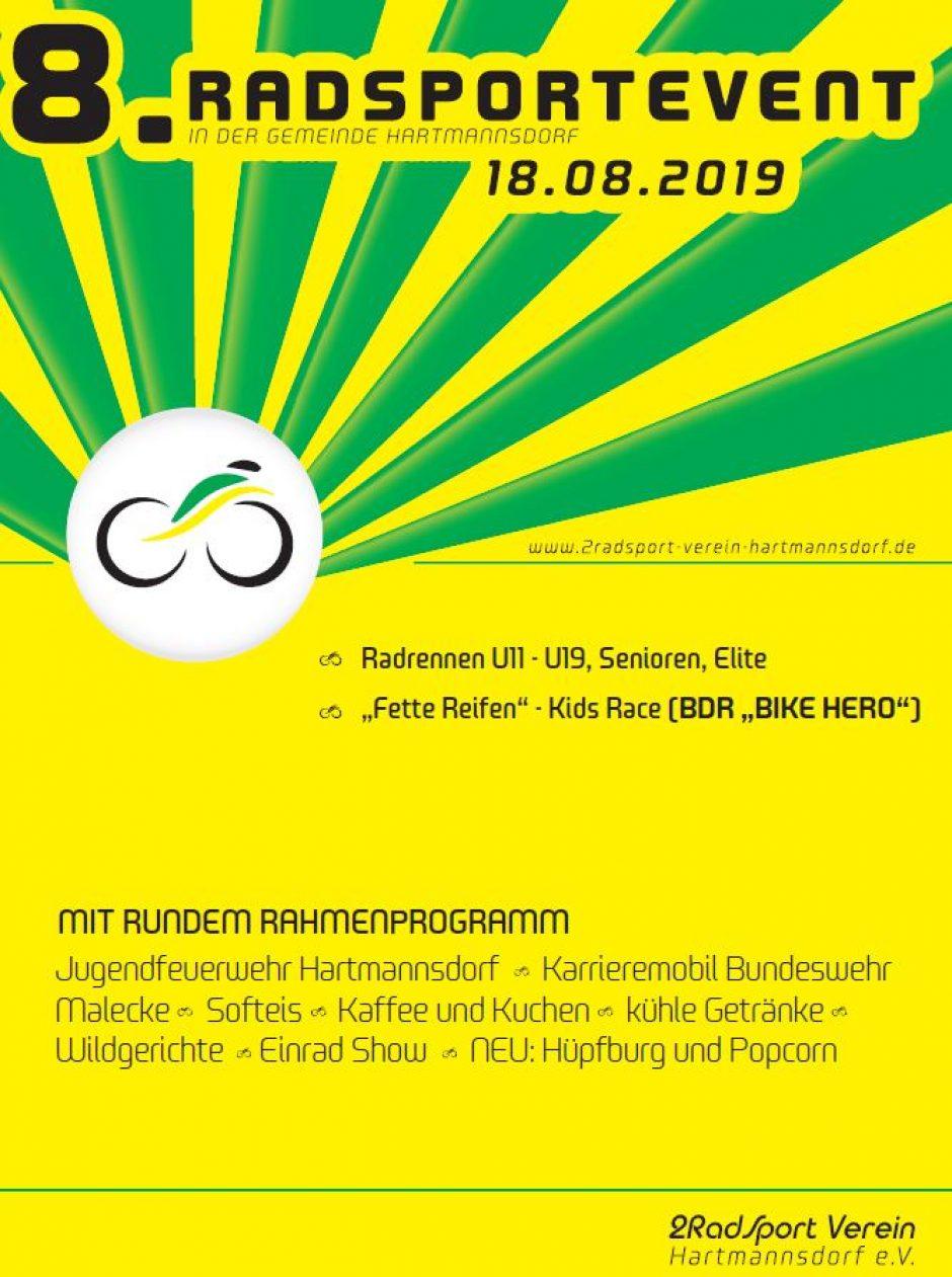 8. Radsportevent in Hartmannsdorf