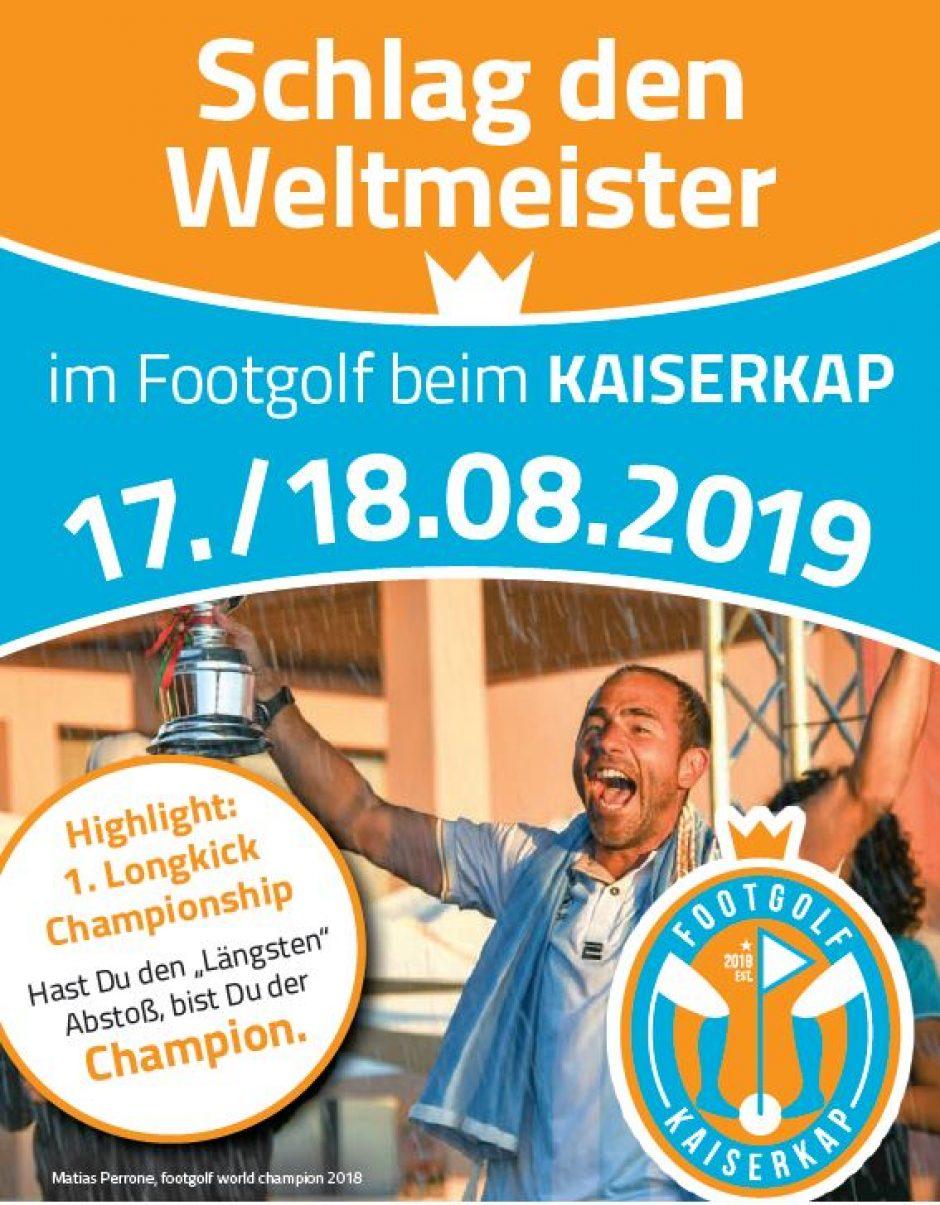 Schlag den Weltmeister beim Footgolf in Gahlenz  – 16. bis 18. August