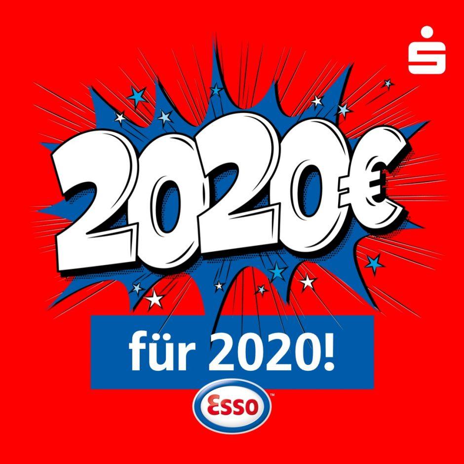 Gewinnspiel mit Esso – täglich 2.020 Euro gewinnen!