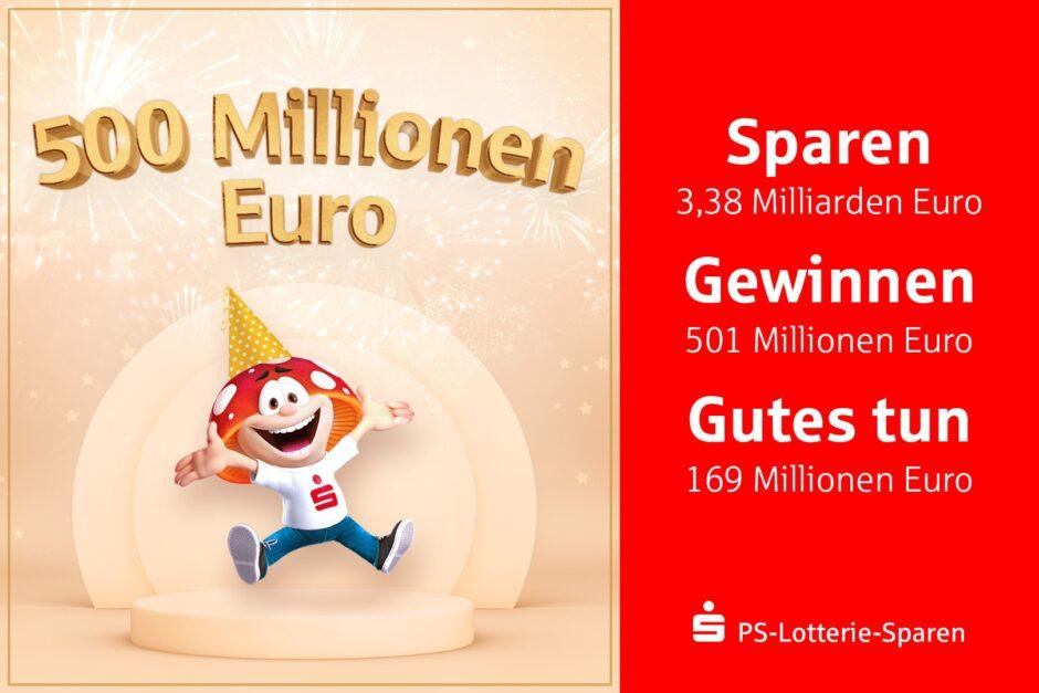 So viel Glück: 500 Millionen Euro seit 1993!
