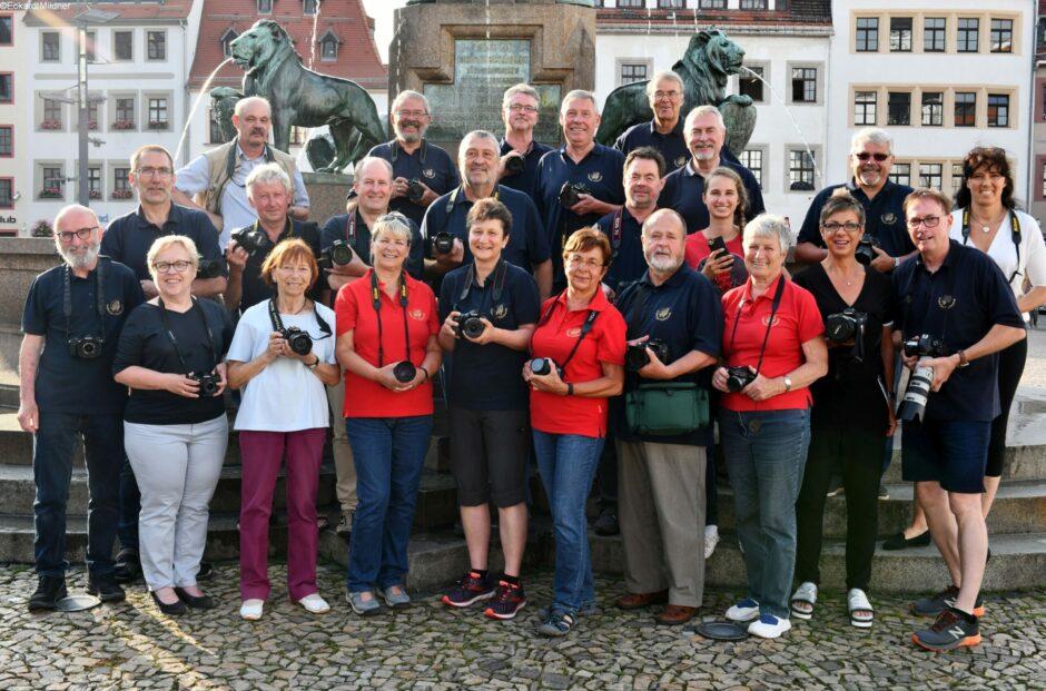 Fotoausstellung der Freiberger Fotofreunde in der Hauptfiliale Freiberg.